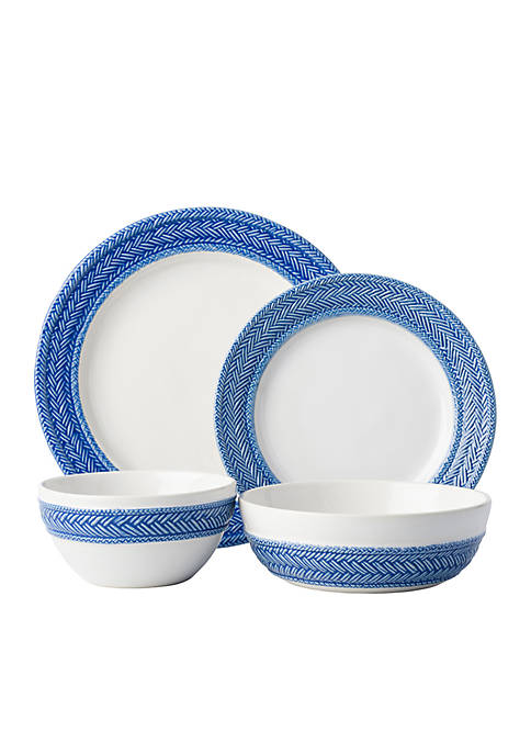 Juliska Le Panier Delft Blue 4-Piece Place Setting