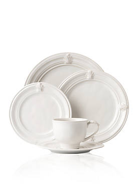 Acanthus Whitewash 5-Piece Place Setting
