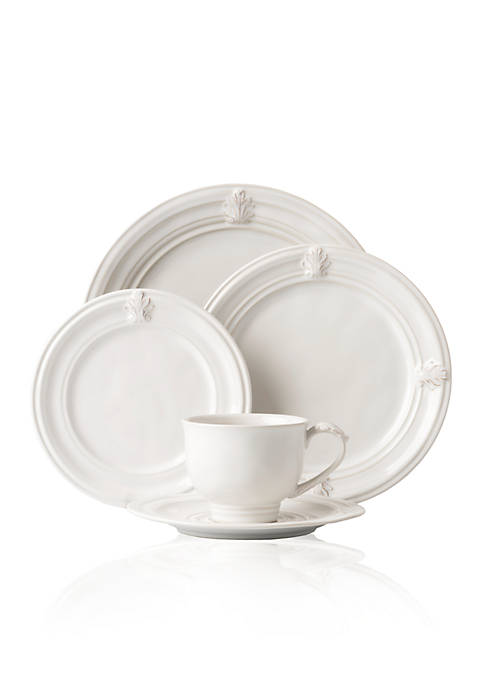 Juliska Acanthus Whitewash 5-Piece Place Setting