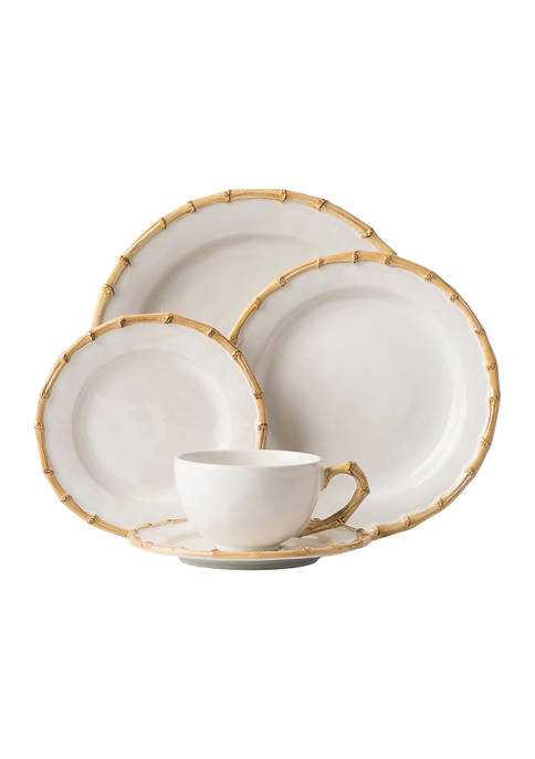 Classic Bamboo Natural 5 Piece Place Setting