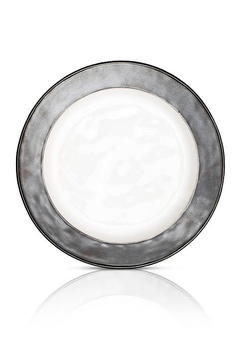 Juliska Emerson White/Pewter Dinner Plate