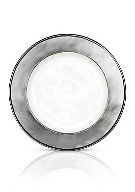 Emerson White/Pewter Side/Cocktail Plate
