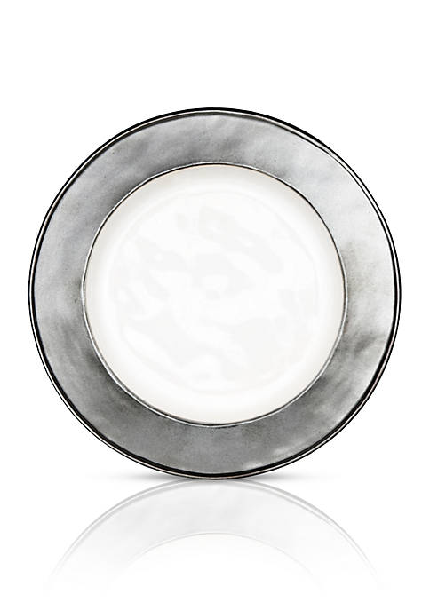 Juliska Emerson White/Pewter Side/Cocktail Plate