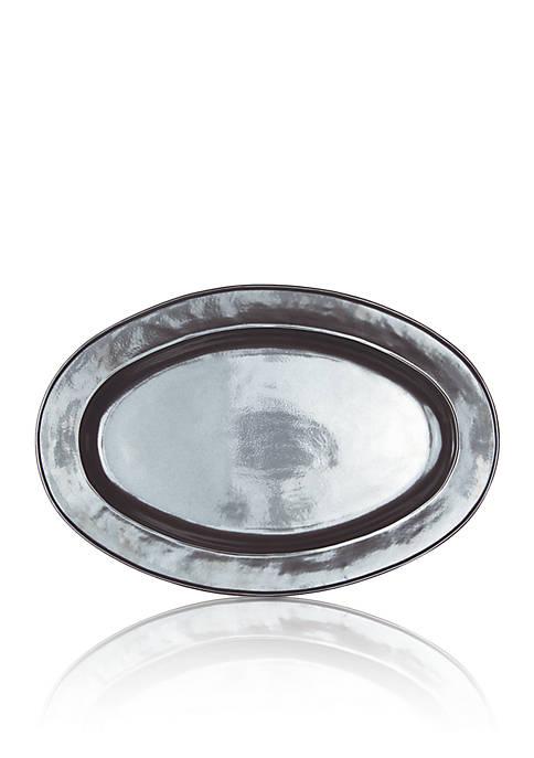 Pewter Stoneware Oval Platter