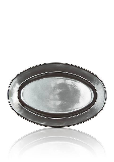 Juliska Pewter Stoneware Oval Platter
