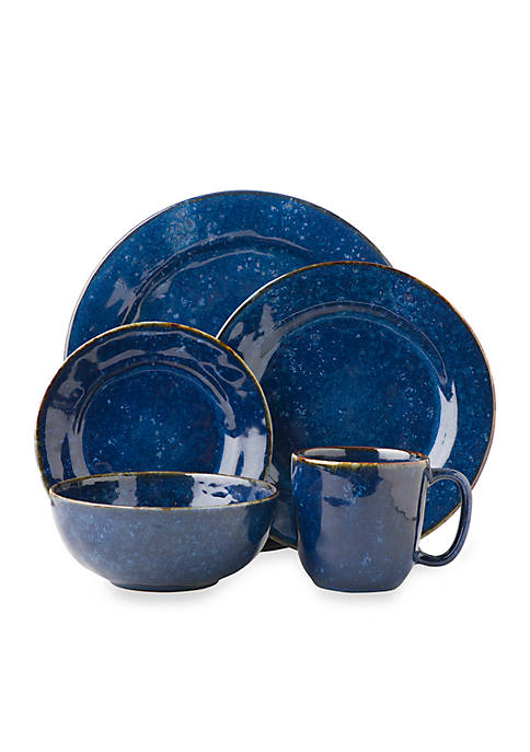 Juliska Puro Dappled Cobalt 5 Piece Place Setting