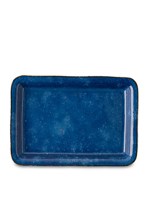 Juliska Puro Dappled Cobalt 16-in. Tray