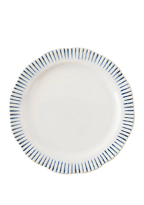 Juliska Sitio Stripe Indigo Dinner Plate