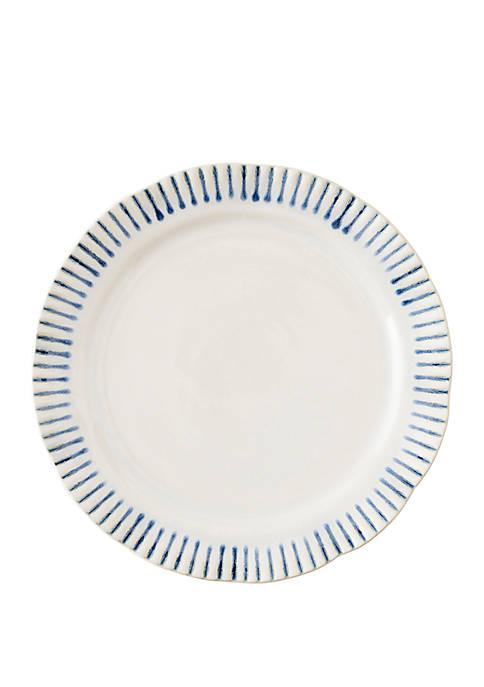 Sitio Stripe Indigo Dessert/Salad Plate