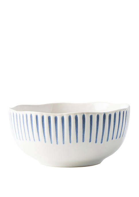 Sitio Stripe Indigo Cereal/Ice Cream Bowl