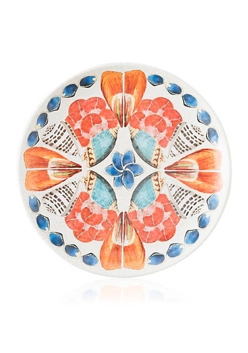 Juliska Oceanica Melamine Multi/White Dinner Plate