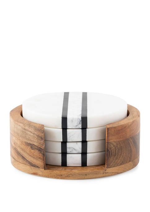 Juliska Stonewood Stripe Coaster Set