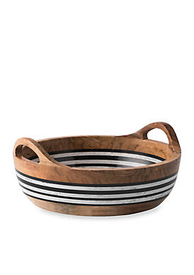 Stonewood Stripe Round Serving Bowl