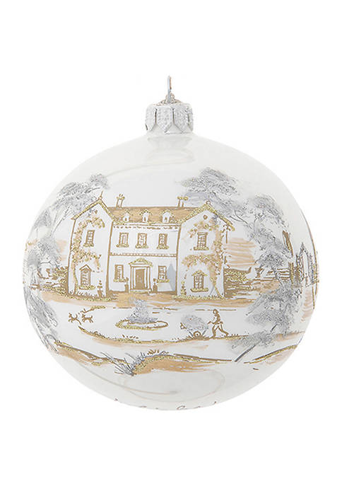 Country Estate Gold & Silver 2021 Limited Edition Glass Ball Ornament