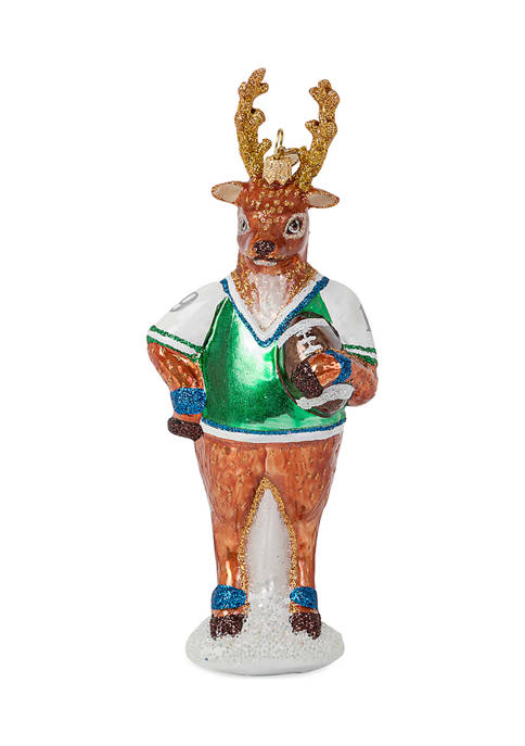 Country Estate Reindeer Games Blitzen the Reindeer Glass Ornament
