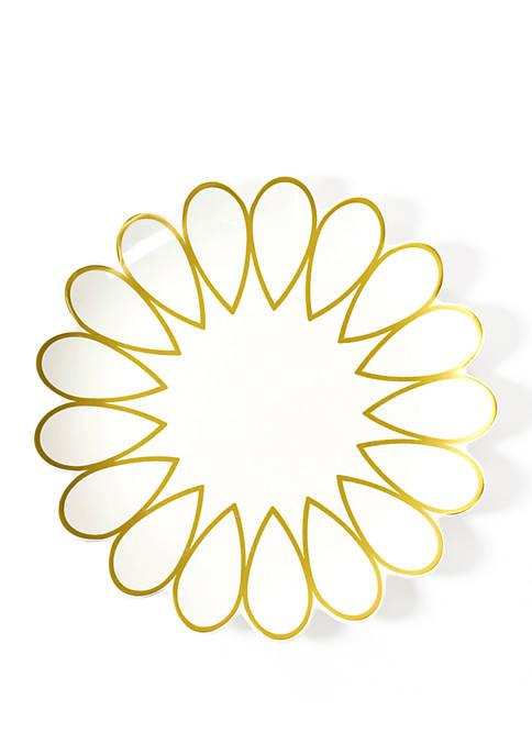 COTON COLORS Gold Scallop Platter