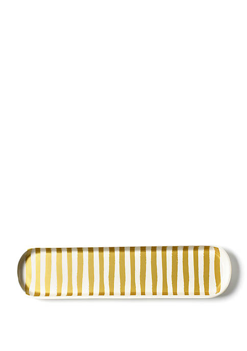 COTON COLORS Gold Stripe Oval Tray
