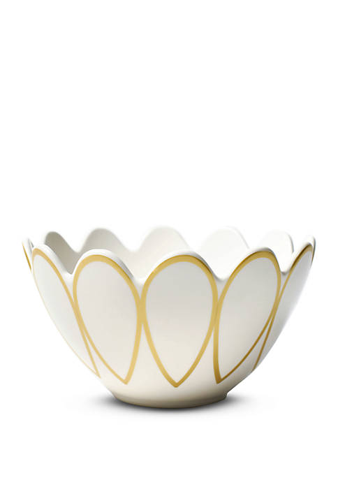 COTON COLORS Gold Scallop Bowl