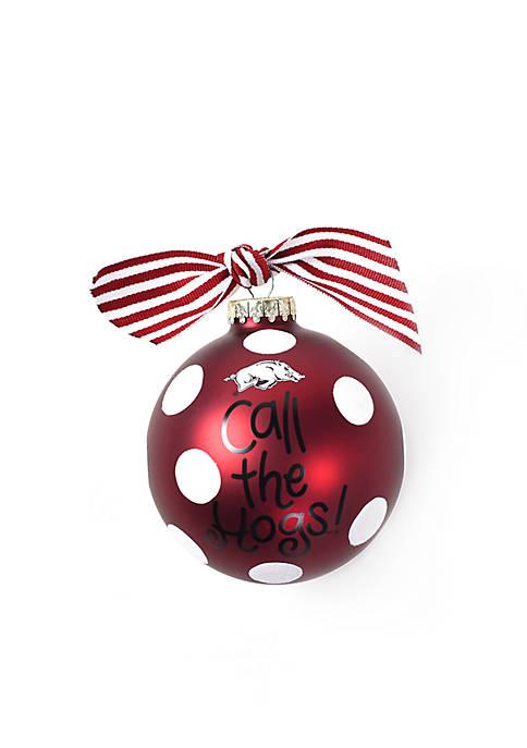 COTON COLORS Arkansas Razorbacks Glitter Dot Ornament