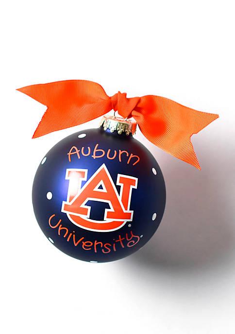 COTON COLORS Auburn Logo Glass Ornament