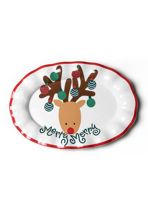 Reindeer 15 in Oval Platter