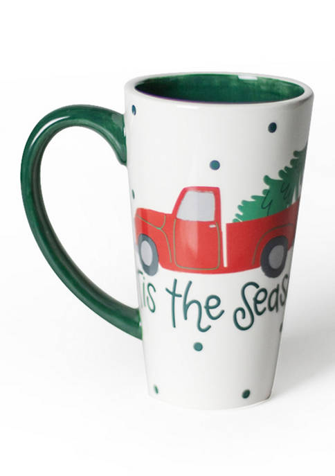 COTON COLORS Red Truck Mug