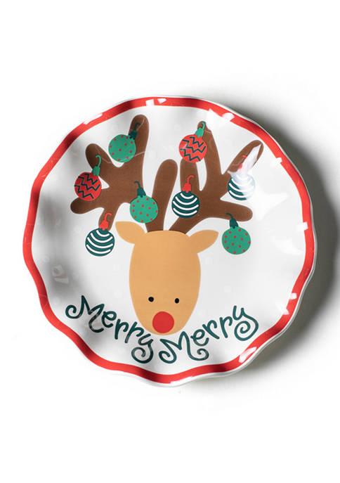 Reindeer 8 Inch Ruffle Plate