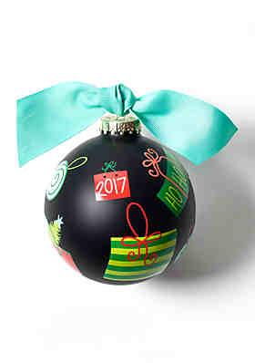 coton colors black friday 2017 glass ornament