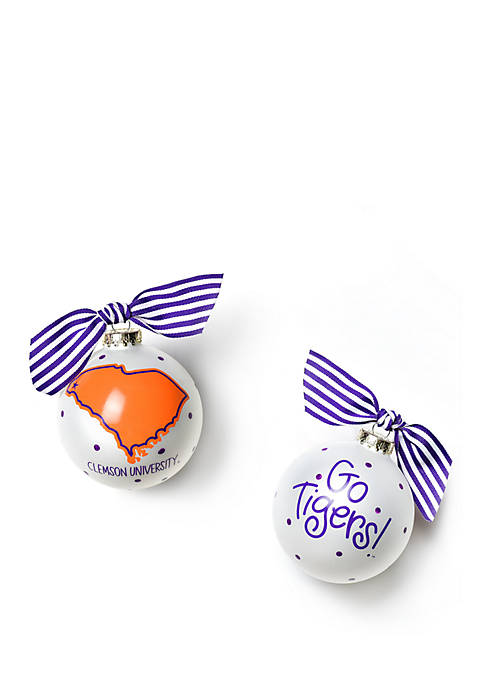 COTON COLORS NCAA Clemson Tigers State Ornament