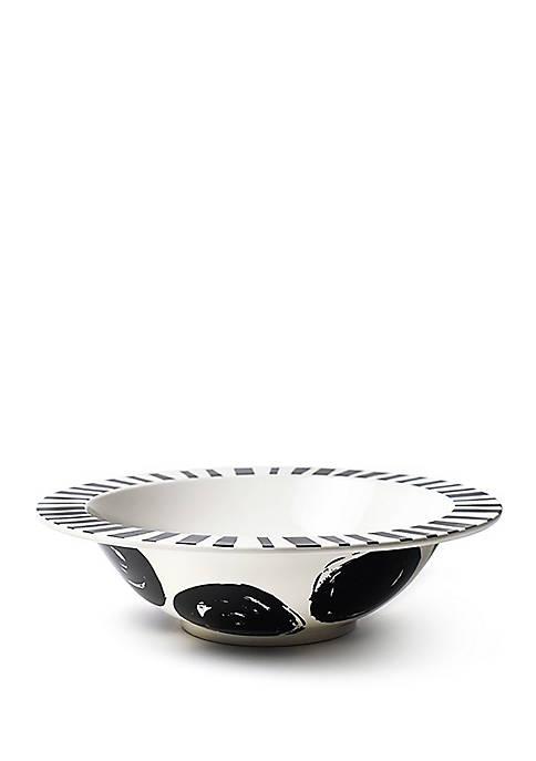 Deco Rimmed Bowl