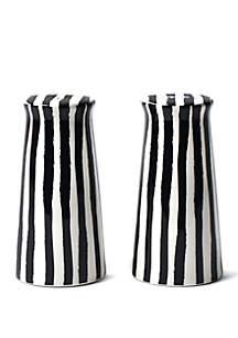 COTON COLORS Deco Pedestal Salt and Pepper Shaker Set