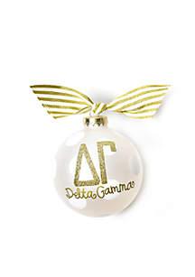 Delta Gamma Gold Glitter Ornament