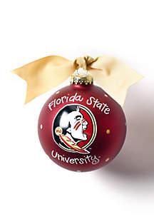Florida State Logo Glass Ornament