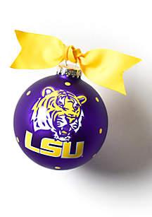 Louisiana State Logo Glass Ornament