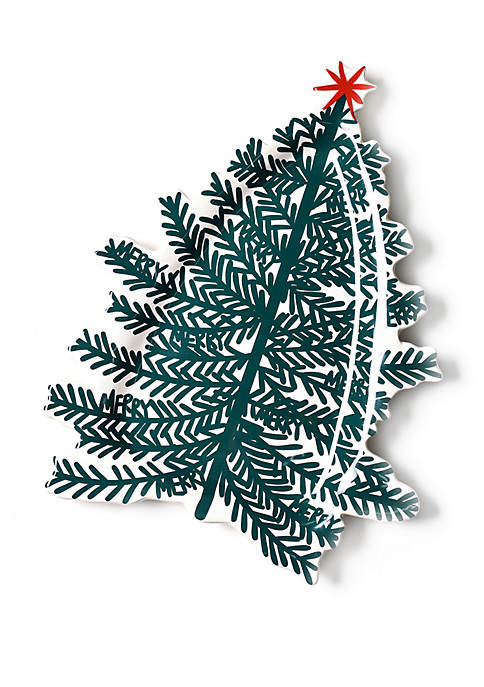 COTON COLORS Merry Tree 13 Inch Platter