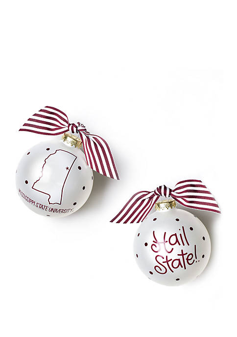 COTON COLORS NCAA Mississippi State Bulldogs State Glass