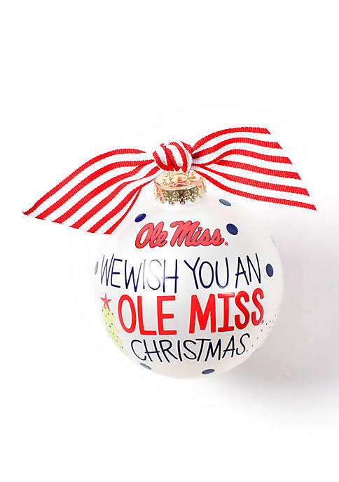 COTON COLORS Ole Miss We Wish You Glass