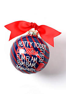 Ole Miss Word Collage Glass Ornament