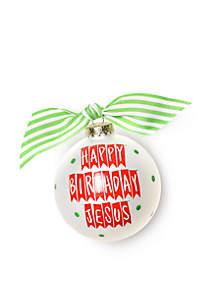 Happy Birthday Jesus Banner Ornament