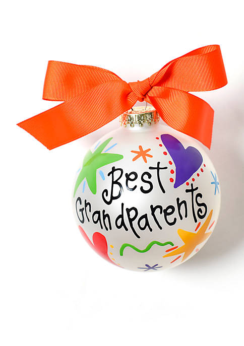 COTON COLORS Best Grandparents Glass Ornament