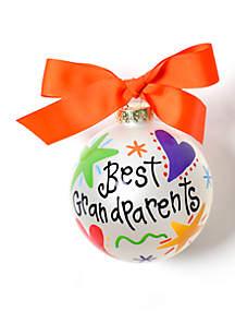 Best Grandparents Glass Ornament