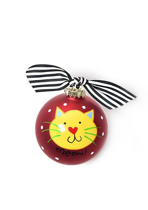 COTON COLORS Meow Red Cat Ornament