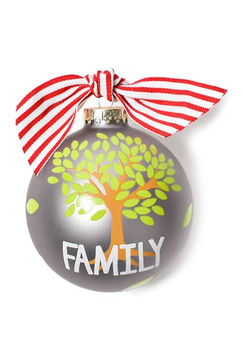 COTON COLORS Family Tree Glass Ornament