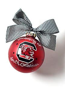 South Carolina Logo Glass Ornament