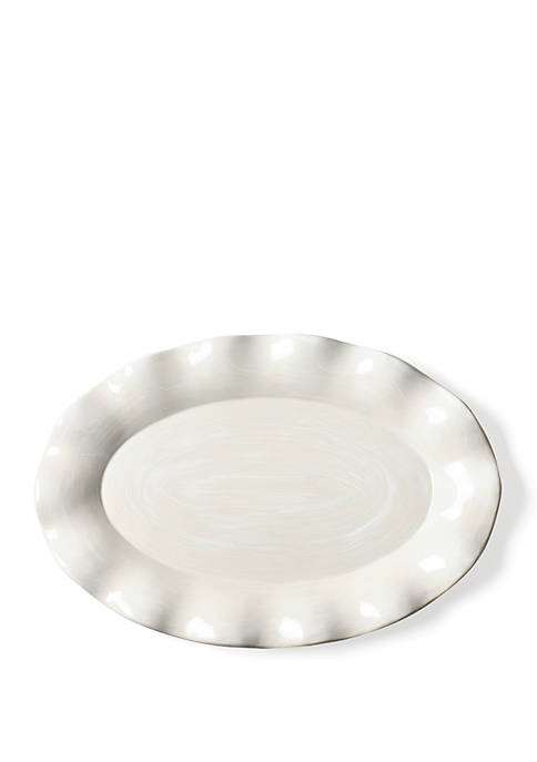 COTON COLORS Signature White Oval Platter