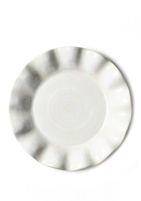 COTON COLORS Signature White Ruffle Salad Plate