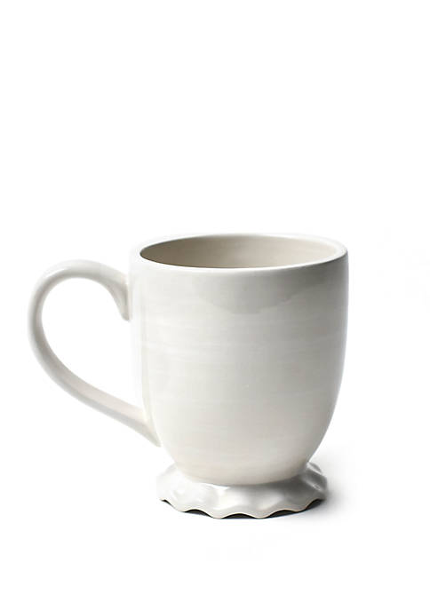 COTON COLORS Signature White Ruffle Mug