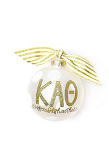 Kappa Alpha Theta Gold Glitter Ornament