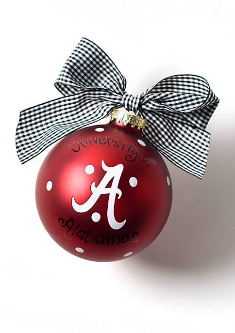 COTON COLORS Alabama Logo Glass Ornament