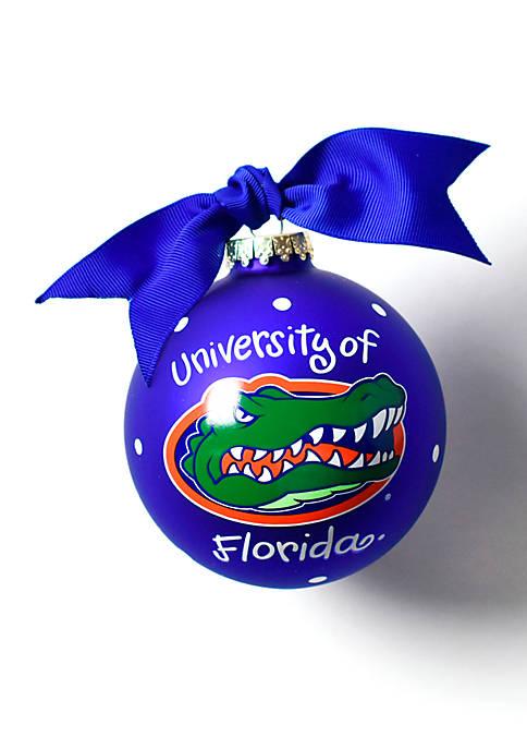 COTON COLORS Florida Mascot Glass Ornament